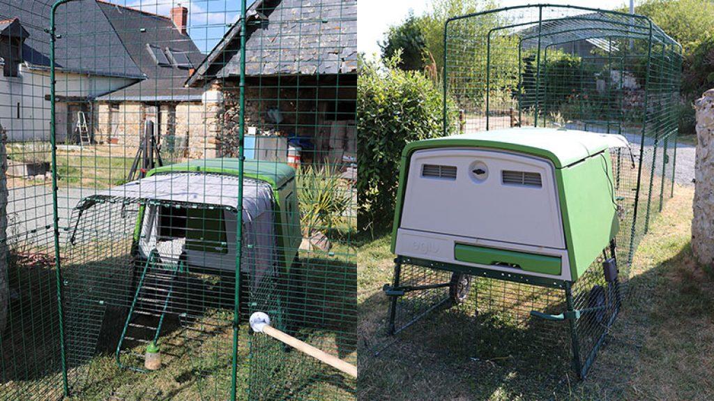 connexion poulailler Omlet avec enclos pour poules