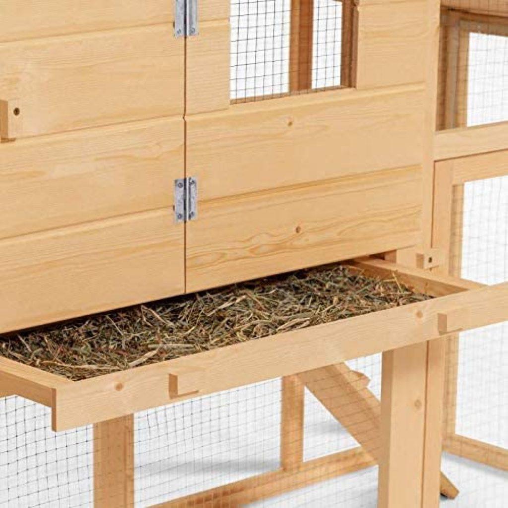 poulaillers mobiles ID Market – Comfort avec pendoir en bois